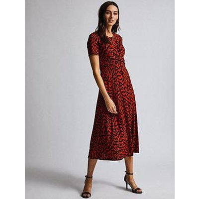 Dorothy Perkins Dorothy Perkins Twist Ikat Print Midi Dress - Red