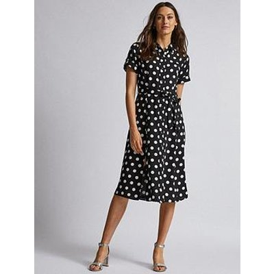 Dorothy Perkins Dorothy Perkins Spot Shirt Dress - Black