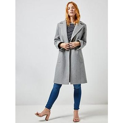 Dorothy Perkins Dorothy Perkins Patch Pocket Wrap Coat - Grey