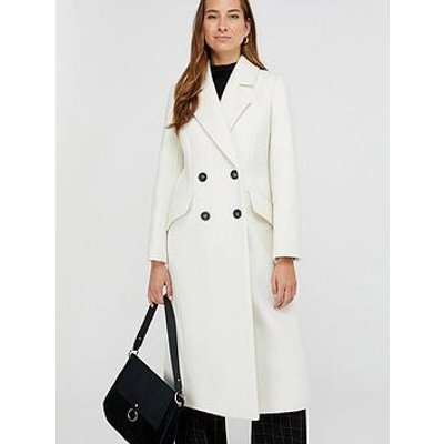 Monsoon Wanda White Maxi Coat