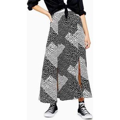 Topshop Topshop Petite Spot Maxi Skirt - Monochrome