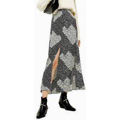 Topshop Topshop Tall Spot Maxi Skirt - Monochrome