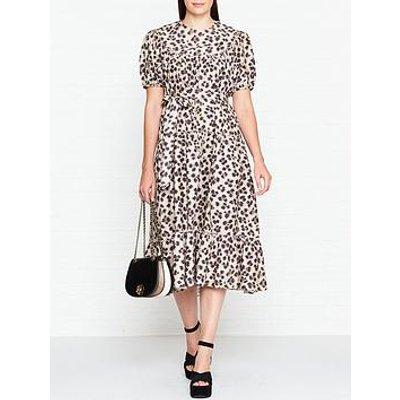 L.K. Bennett Rego Leopard Print Midi Dress - Leopard