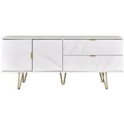 Swift Marbella Low Sideboard/Tv Unit - Fits Up To 42 Inch Tv - Marble Effect