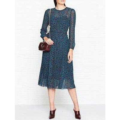 L.K. Bennett Avery Mesh Print Midi Dress - Multi