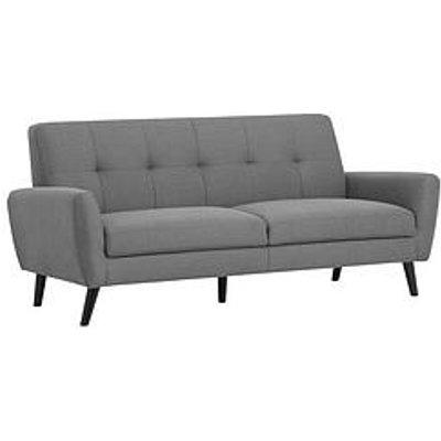 Julian Bowen Monza Fabric Compact 3 Seater Sofa