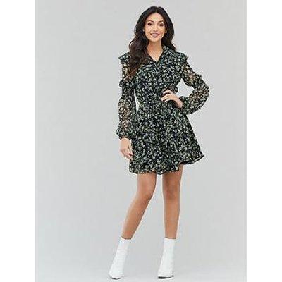 Michelle Keegan Printed Ruffle Tea Dress - Ditsy Floral