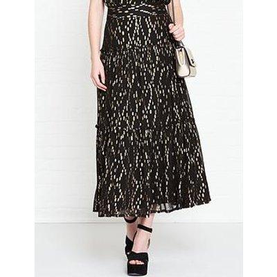 Sofie Schnoor Celia Metallic Maxi Skirt - Black