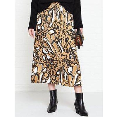 Gestuz Lori Leopard Print Skirt - Brown