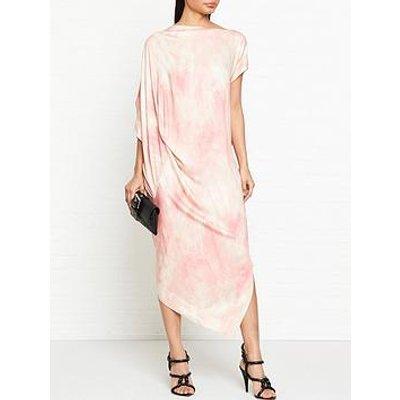 Vivienne Westwood Anglomania Annex Tie Dye Print Drape Dress - Pink
