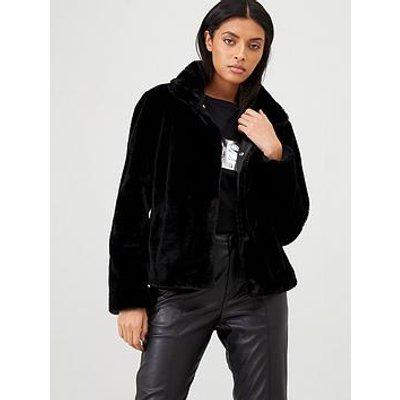 Hugo Faux Fur Coat - Black
