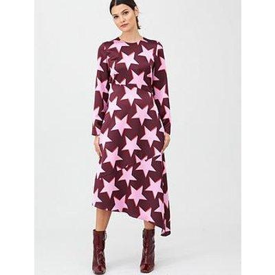 Hugo Star Print Midi Dress - Pink