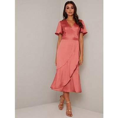 Chi Chi London Yelissa Dress - Orange