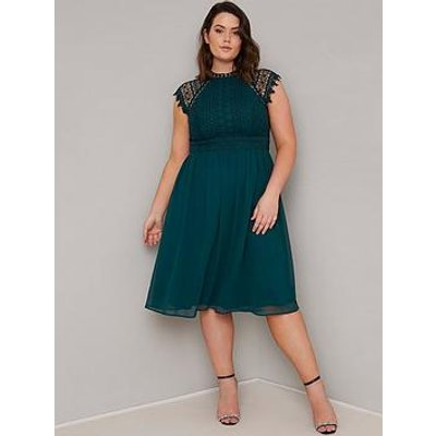 Chi Chi London Curve Simona Dress - Teal
