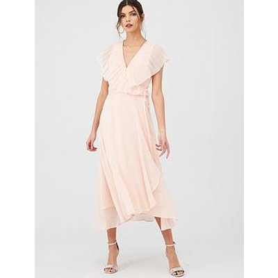 V By Very Pleated Cape Woven Midi Dress