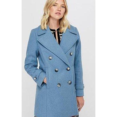 Monsoon Ashley Double Breasted Pea Coat - Blue