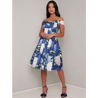 Chi Chi London Petite Ilona Dress - Navy