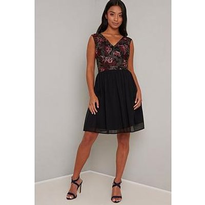 Chi Chi London Petite Tashyah Dress - Black