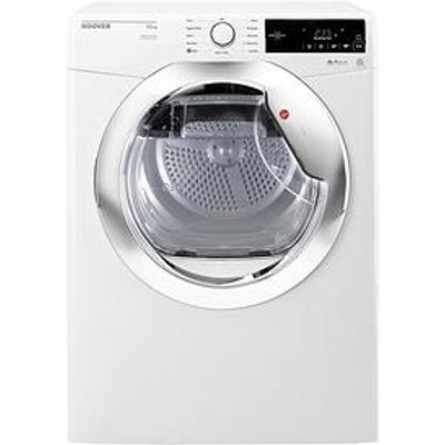 Hoover Dynamic Next Dx10Tce 10Kg Load Aquavision Condenser Tumble Dryer With One Touch - White/Chrome
