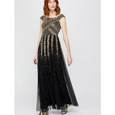 Monsoon Sansa Embellished Maxi Dress - Black