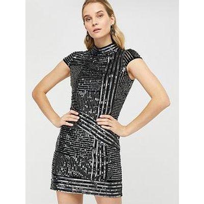 Monsoon Brienne Linear Embellished Tunic Dress - Silver