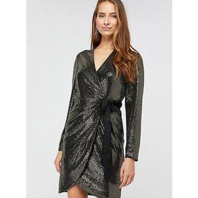 Monsoon Trinity Tux Sequin Dress - Gold