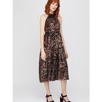 Monsoon Scarlett Sequin Midi Dress - Bronze