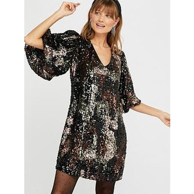 Monsoon Carmen Camo Sequin Short Dress