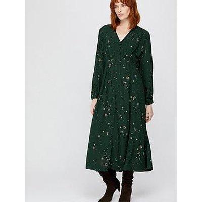 Monsoon Ellie Star Embellished Midi Dress - Green