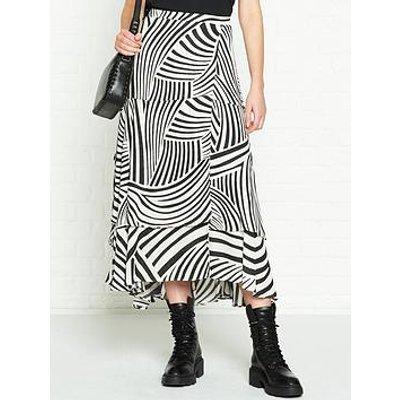 Allsaints Elie Zebra Print Skirt - White