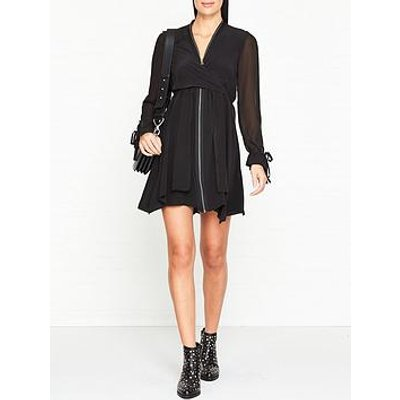 Allsaints Jayda Long Sleeve Zip Dress - Black