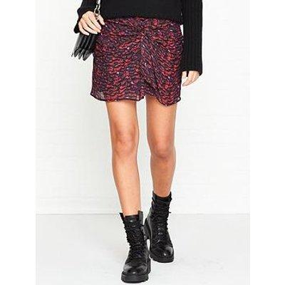 Allsaints Rylie Plume Print Skirt - Pink