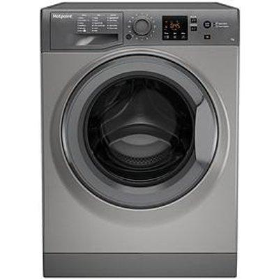 Hotpoint Nswm743Ugg 7Kg Load, 1400 Spin Washing Machine - Graphite