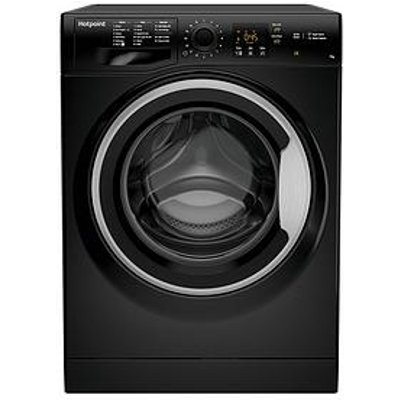 Hotpoint Nswm743Ubs 7Kg Load, 1400 Spin Washing Machine - Black