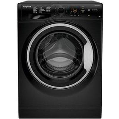 Hotpoint Nswm843Cbsukn 8Kg Load, 1400 Spin Washing Machine - Black