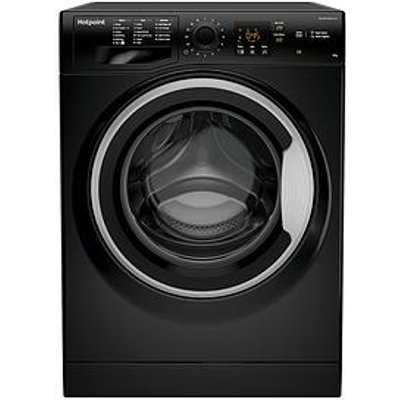 Hotpoint Nswm943Cbs 9Kg Load, 1400 Spin Washing Machine - Black