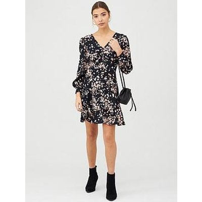 Whistles Mottled Animal Button Front Dress - Pink/Multi