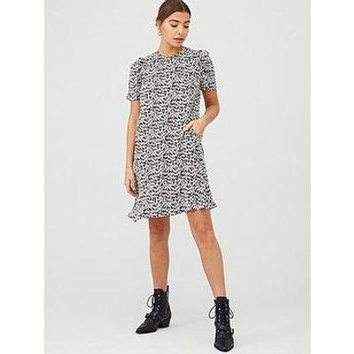 Whistles Petal Print Dress - Black/Multi