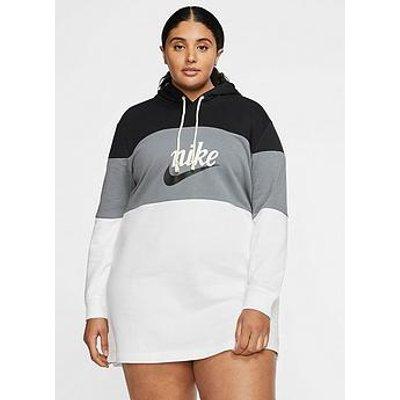 Nike Nsw Varsity Hooded Dress (Curve) - Black/White
