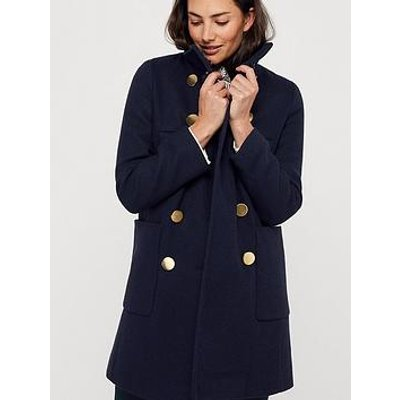 Monsoon Louis Funnel Neck Coat - Navy