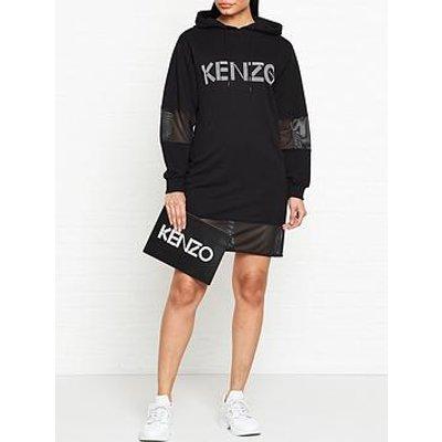 Kenzo Logo Sport Hoodie Dress - Black