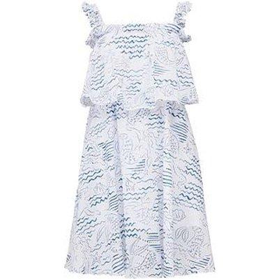 Kenzo Strapless Ruffle Dress - White