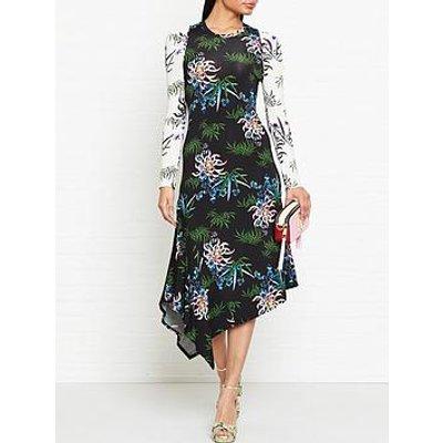 Kenzo Fluid Asymmetrical All Over Dress - Multi