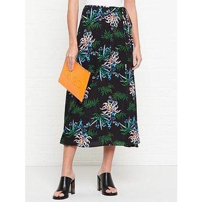 Kenzo Soft Ruffle Midi Skirt - Multi