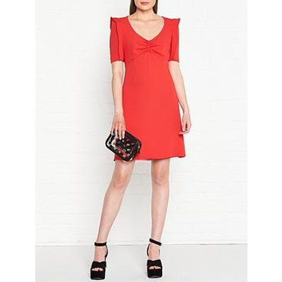 Kenzo Japanese Sleeve Shift Dress - Red