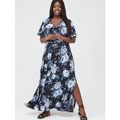 V By Very Curve Maxi Dress - Print