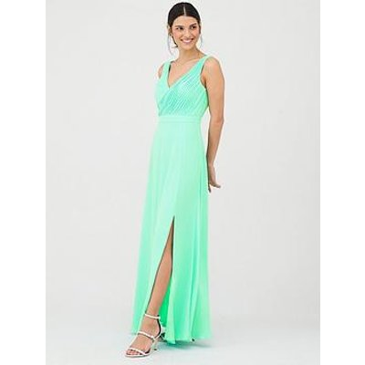 V By Very Bridesmaid Pleated Bust Maxi Dress