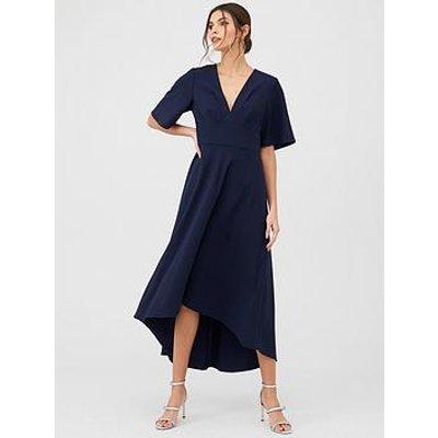 V By Very Short Sleeve Prom Dress - Navy