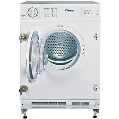 Candy Cbtd7Vw-80 7Kg Vented Integrated Tumble Dryer - White - Dryer Only