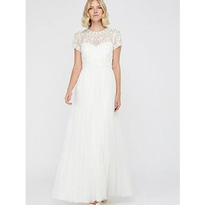 Monsoon Monsoon Olive Bridal Emb Tulle Maxi Dress